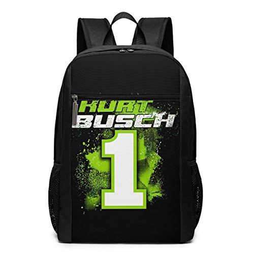 Youth's Kurt Busch Monster 2019 NASCAR Contender Driver Backpack Black