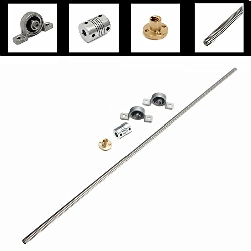 GOCHANGE-3D-Printer-Accessories-Kit-T8-500mm-Stainless-Steel-Lead-Screw-8mm-Nuts-Coupling-Shaft-Mounted-Ball-Bearing-for-3D-Printer-Parts
