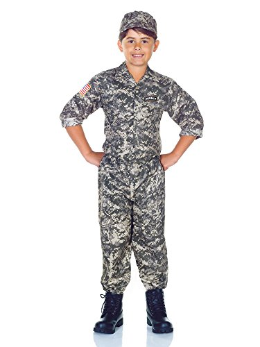 Camouflage Halloween Costumes (Underwraps Big Boy's Children's Army Camo Costume Set - X-Large Childrens Costume, camouflage, X-Large)