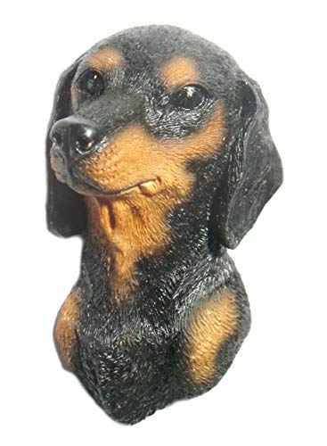 Dachshund dog's head Collect Crafts Souvenir animal Resin 3D Fridge Magnet ()
