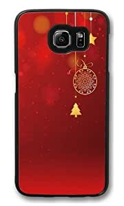 Christmas decorations and red PC Case Cover for Samsung S6 and Samsung Galaxy S6 Black Kimberly Kurzendoerfer