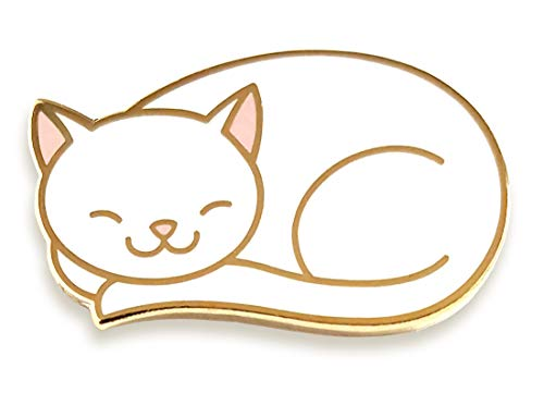 Pinsanity Cute Sleeping Cat Enamel Lapel Pin