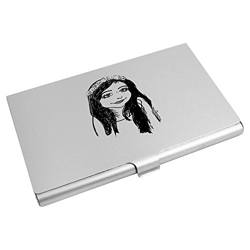 Credit Azeeda Business Holder Card 'Flower Girl' CH00009153 Wallet Card X7AXZq