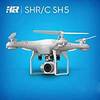 Childrens Christmas/Birthday Gift, Leewa SH5H 120 Wide Angle Lens 2MP HD Camera Quadcopter RC Drone WiFi FPV Live Helicopter Hover (White)