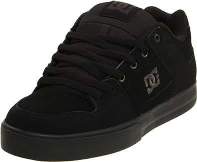 DC Men's Pure Skate Shoe, Black/Pirate Black, 5 M US