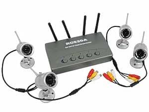 iClever RC530A - Sistema de vigilancia (visión nocturna, receptor de 4 canales, CCTV)