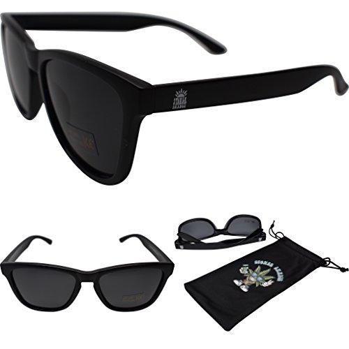 Stoner Shades Unisex Polarized Mirror Lens Sunglasses For Men/Woman … (Matte Black, - Plastic Sunglasses Custom