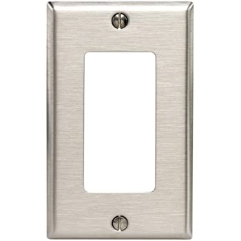 Leviton 84401-40 1-Gang Decora/ GFCI Device Decora Wallplate, Device Mount, Stainless Steel.