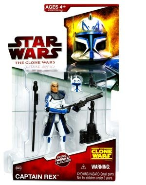 Star Wars The Clone Wars 2009 Series Captain Rex Figure CW24 3.75 Inch Scale Action (Star Wars Clone Wars Characters)