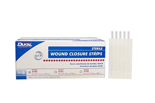 DUKAL 5150 Wound Closure Strips, 1/8