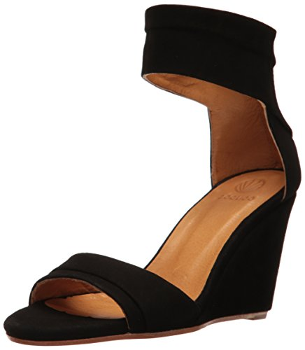 Coclico Women's Jal Wedge Sandal Black
