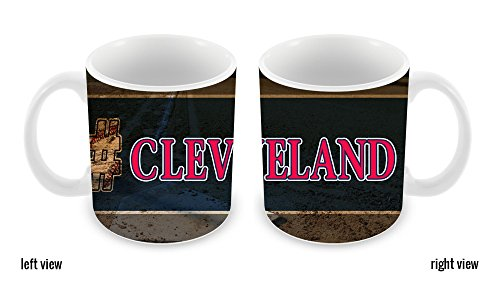 BleuReign(TM) Hashtag Cleveland #Cleveland Baseball Team 11oz Ceramic Coffee Mug