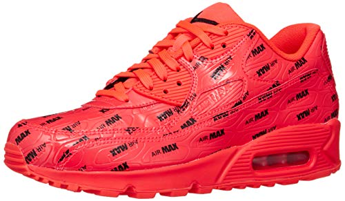 Nike Men's Air Max 90 Premium Running Shoe 8 Red (Nike Air Max 90 Red And Grey)