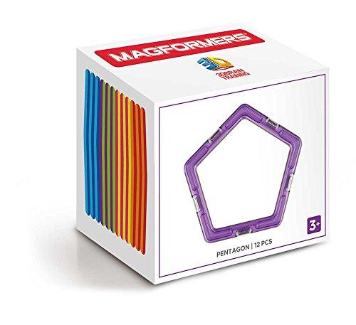 Magformers Pentagon (12 Piece) Set Magnetic Building Blocks JungleDealsBlog.com