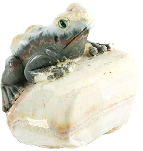 One of a Kind Frog Carving in Natural Agate Collectible Item by Simplicity (Image #3)