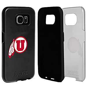 Utah Utes Clear Hybrid Case for Samsung Galaxy S7 with Black Insert and Guard Glass Screen Protector