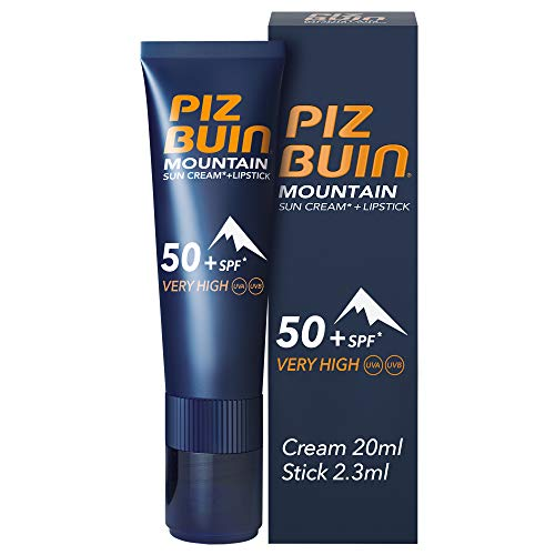 Amazon Com Piz Buin Mountain Suncream Spf50 And Lipstick Spf30 Beauty