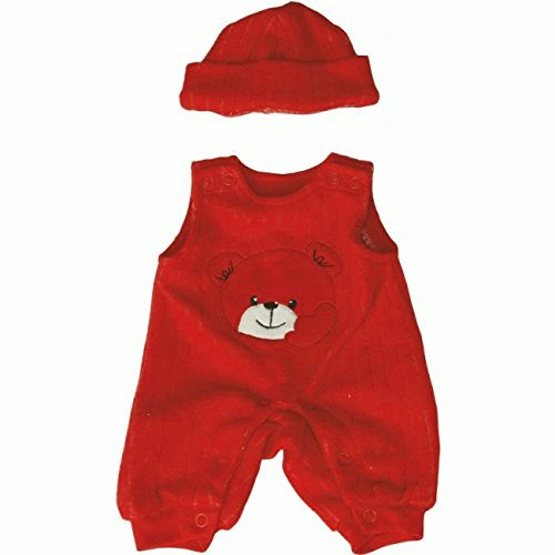 Miniland Doll Clothes Red Overalls and Cap 40cm
