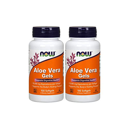 Now Foods Aloe Vera, 100 softgels 2 pack