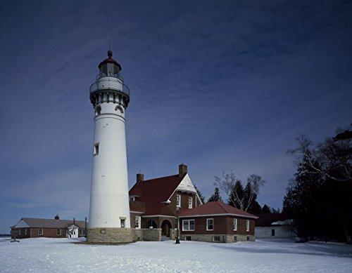 historic pictoric Gulliver, MI Photo - Seul Choix Point Lighthouse on Michigan