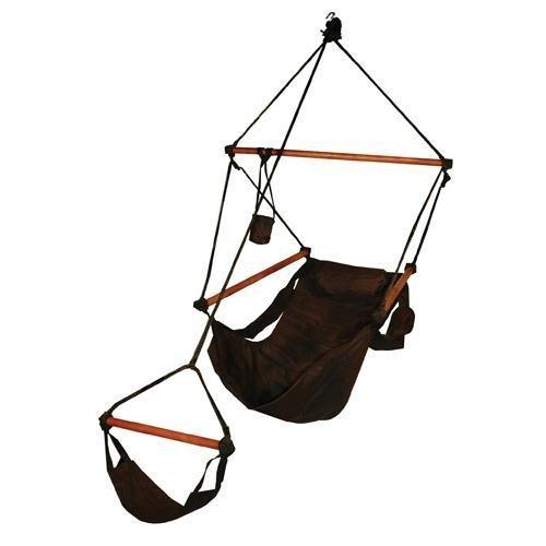 Hammaka Hanging Hammock Air Chair Wooden Dowels Black [並行輸入品] B077QQQNTL