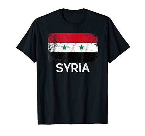 - Syrian Flag T-Shirt | Vintage Made In Syria Gift