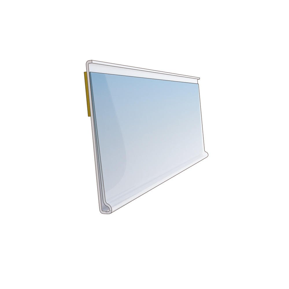 Clear Shelf Edge Strip 39mm High 1000mm Length Ticket Holder Various Pack Sizes Pack of 10