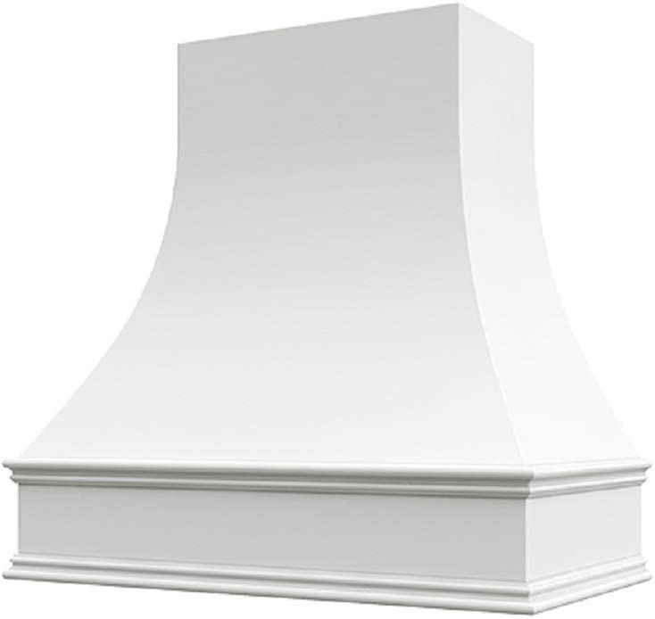 Wholesale Wood Hoods Curved Style Hood Wooden Chimney Range Wall Mounted