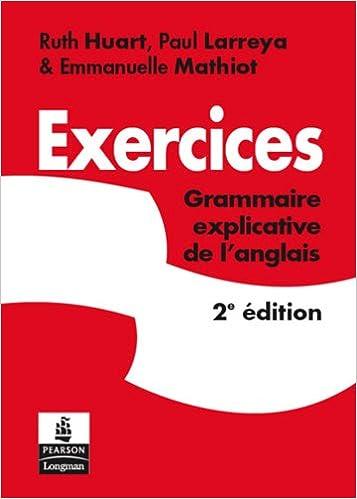 Livres gratuits en ligne Exercices Grammaire explicative de l'anglais epub, pdf