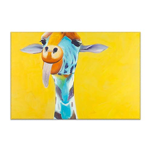 YLJH Lovely Giraffe Placemat for Dining Table Heat Resistant Wipeable Non-Slip ()