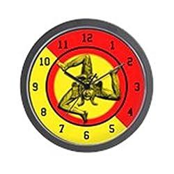 CafePress - Classic Sicilian Trinacria - Unique Decorative 10 Wall Clock