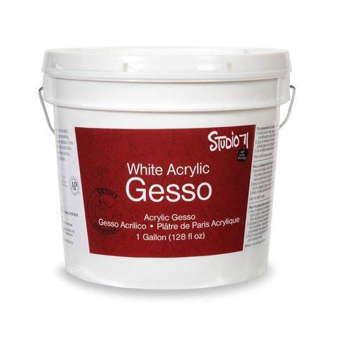 Bulk Buy: Darice DIY Crafts Studio 71 Acrylic Gesso White Gallon (3-Pack 97800-114 by Darice