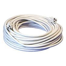 100-Foot 10/3 White Outdoor Extension Cord - Your Name on Cord