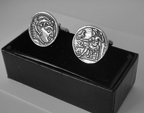 Greek Link (Alexander the Great, Drachm, Famous Greek Collection, Coin Cuff Links (#76C-S))