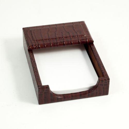 Bey Berk Memo Box Brown ''croco'' Leather by Bey-Berk International Inc