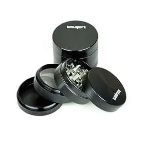 "Instapark™ 2.00"" B Premium Quality Tobacco Herb Grinder, Color Black"