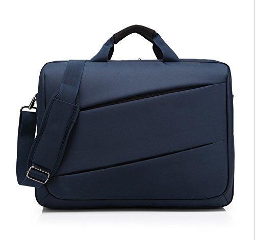 Black Briefcase Shoulder Messenger Bag Case for Alienware 17 R5 / Asus ROG Strix Scar II (GL704GM) / HP ZBook 17 G5 / Dell Precision 7730 17.3 Laptop (Blue)
