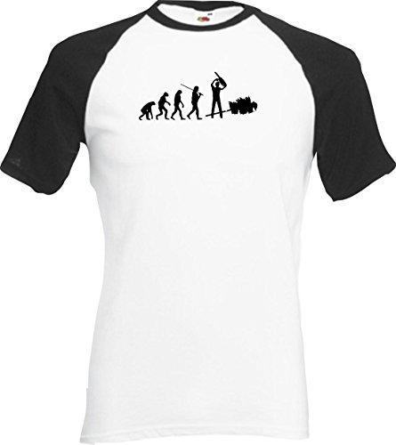 ShirtInStyle Raglan Shirt Evolution Waldarbeiter Holzfäller diverse Farben, S-XXL