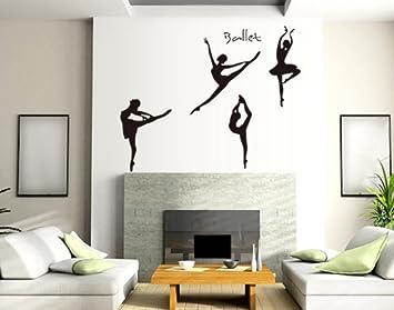 PeelCo Modern Ballerina Wall Decal Sticker Decorations