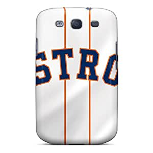 Premium JQXLE74WjSkz Case With Scratch-resistant/ Houston Astros Case Cover For Galaxy S3