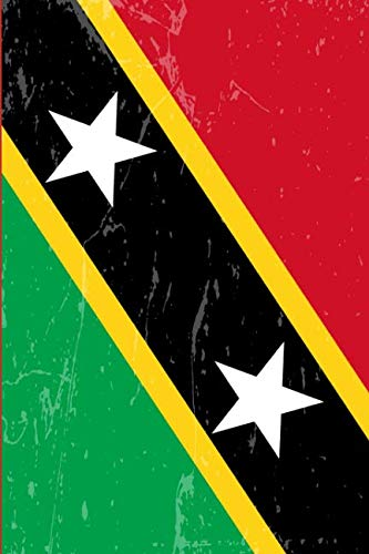 Saint Kitts and Nevis Flag Journal: Blank lined Notebook to write in