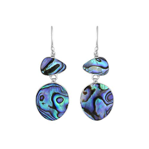 Sterling Silver Earring with Abalone Shell AE-6243-AB ()