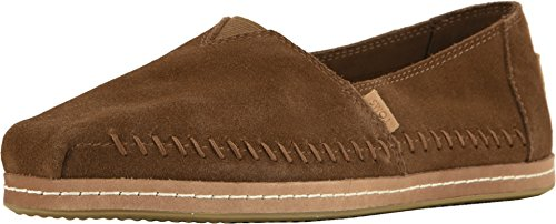 TOMS Women's Alpargata Suede Espadrille, Size: 8 B(M) US, Color: Dark Amber Sude On L