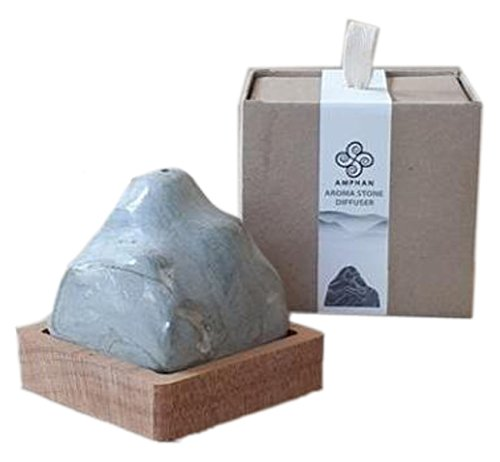 """Amphan Mountain Aroma Stone Diffuser, Rock Aroma Series """"The Hill"""", Decorate your place.(Gray)"""