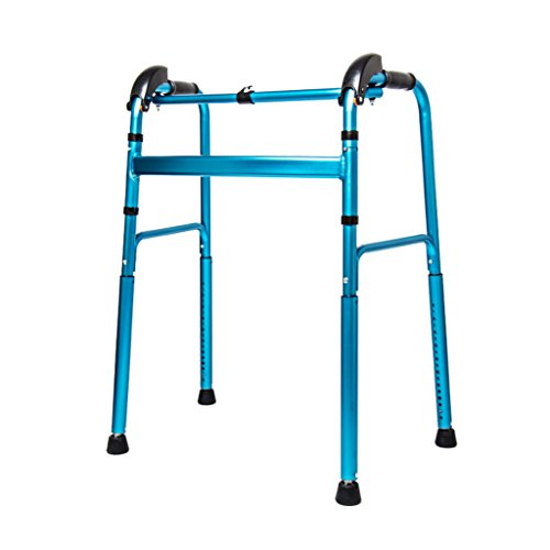 ldable Adult Seniors Rollator Assistive Walkers Climbing on the Downhill Walking Fram Aid Without Wheel |Aluminum Alloy | 360 ° Rotating Foot Pad| Adjustable Height 76-96cm | Max L ()