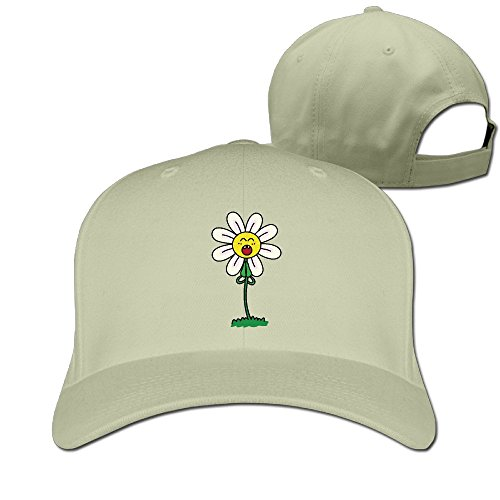 - FASN Cartoon Tulip Flower Peaked Baseball Cap With Natural