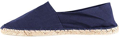 Sommerlatschen Espadrilles, vollgummiert, dunkelblau, Unisex, SL1097 Blau (Dunkelblau)