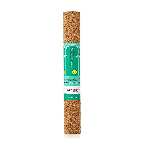 Con-Tact Brand Self-Adhesive Cork Contact Shelf and Drawer Liner, 18