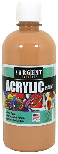 Sargent Art 24-2487 16-Ounce Acrylic Paint, Peach