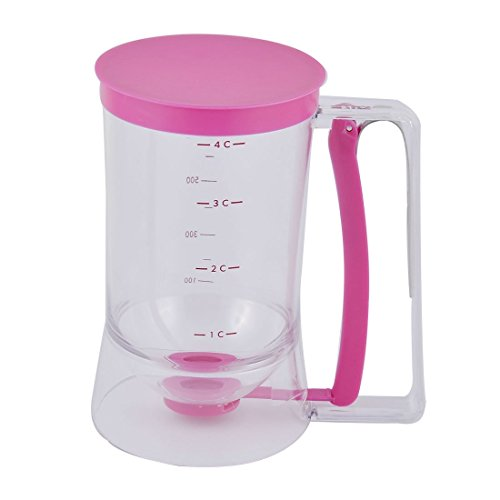 Amazon.com: DealMux Cozinha medição Etiqueta do queque Waffle Crepe Donut Pancake Batter Dispenser Fuschia 900ml: Industrial & Scientific